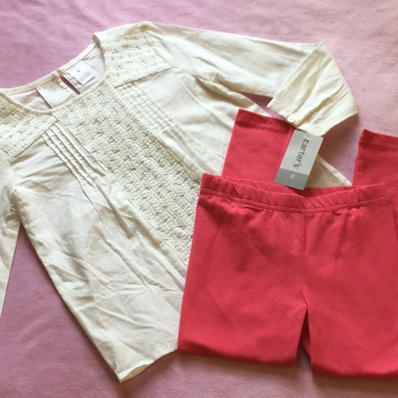 Carter's Other - Carter's blouse & leggings. NWT